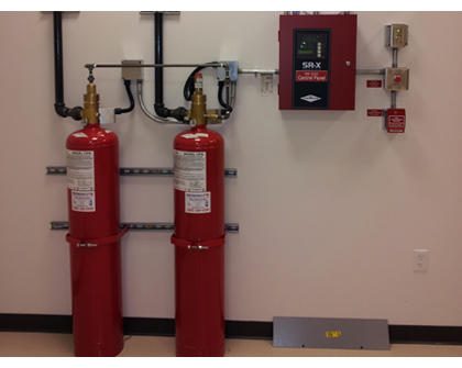 Environmentally Safe Cleaning >> Clean Agent Fire Suppression System